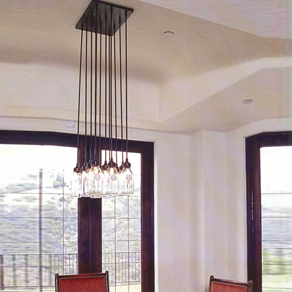 Lantern masters los angeles ca custom lighting milk bottle chandelier aloadofball Gallery