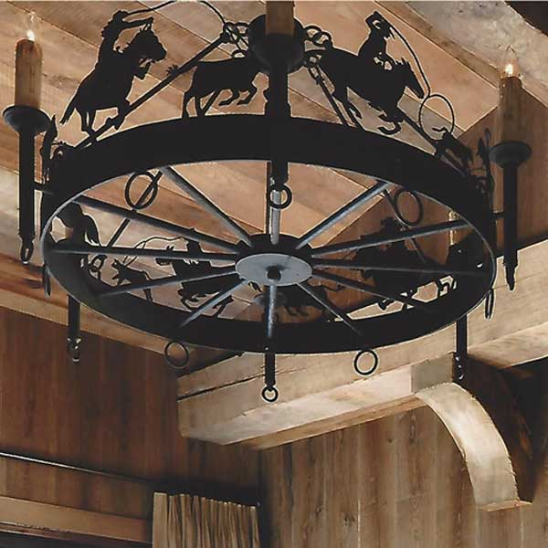 Lantern Masters Los Angeles CA Custom Lighting – Cowboy Chandelier